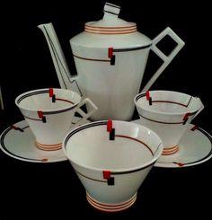 Vintage China foley china art deco coffee set for 2 Casa Art Deco, Art Deco Artwork, China Art, Coffee Set, Art Furniture, Art Deco Design, Vintage China, Art World, Art Deco Fashion