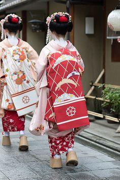 Darari obi of okiya Shigemori (Miyagawacho)