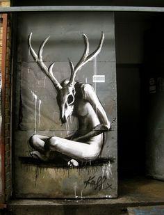 Amazing Skull Street Art #InkedMagazine #Inked #art #streetart #skull #graffiti