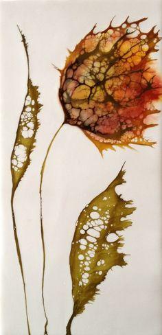 Tulip series #9    6x12   encaustic