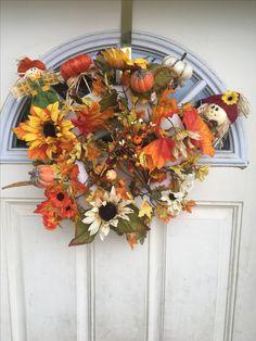 Wreaths, Inspired, Fall, Inspiration, Home Decor, Autumn, Biblical Inspiration, Homemade Home Decor, Door Wreaths