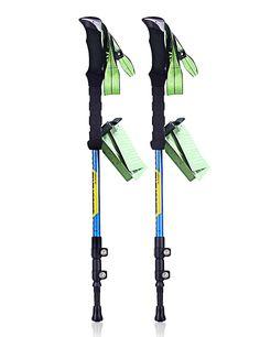 JESBAN 2-Pack Trekking Poles Walking Hiking Sticks for Travel Hiking Climbing (80% Carbon Fiber >>> For more information, visit image link.
