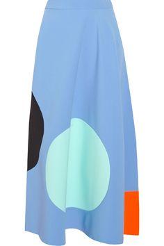 Roksanda Ilincic|Paneled stretch-crepe midi skirt|NET-A-PORTER.COM