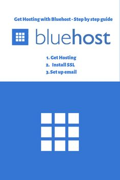 Get hosting with Bluehost step by step guide - Host your website with Unlimited Web Hosting plan. Dont need to worry about overusing the cpu or ram. Cheap Hosting, Site Hosting, Business Website, Online Business, Set Up Email, Check Email, Best Web, Step Guide, Wordpress Theme