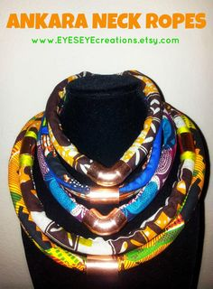 IMPORTANT: Fabric may vary so please message me if you have a fabric and/or color preference. Also, please view the 3rd photo as it is more Diy African Jewelry, African Earrings, African Accessories, African Dresses For Women, African Men Fashion, African Women, Small Necklace, African Fabric, African Prints