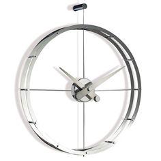 Relojes Nomon Reloj de pared moderno 2 Puntos Reloj de pared moderno 2 Puntos Nomon. Original y ligero reloj formado por dos aros de acero concéntricos. Las...