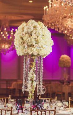 Wedding reception centerpiece idea; Featured Photographer: Vanessa Joy Photography