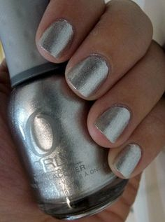 Orly Nail Lacquer in Dazzle. It might be a bit much (for me) to do on its own, but I think it'd be pretty as an accent. Maybe red for the holidays or an electric blue?