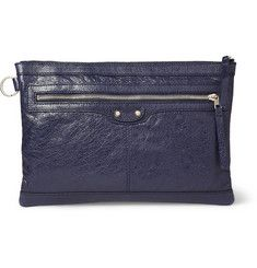 BalenciagaCreased-Leather Pouch