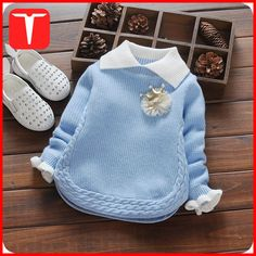 2018 New Autumn & Winter Newborn Girls Sweaters Cotton Fashion Flower Pattern Clothing Children Sweaters For YearsFashion children sweater autumn winter warm girls knitted turn-down collar sweaters baby outwearDiscover thousands of images about undef Fashion Kids, Baby Girl Fashion, Fashion Spring, Winter Newborn, Baby Girl Winter, Winter Kids, Girls Sweaters, Baby Sweaters, Pullover Sweaters