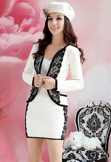 Kitted Lace .. Not this dress and Jacket in particular..but I love the lace color block