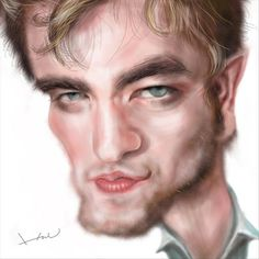 Funny Celebrity Caricatures | Funny Celebrity Charicatures-Robert Pattinson