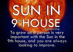 Sun in the 9th house