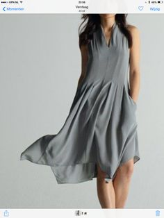 Wonderful grey Eileen Fisher summer dress / Nordstrom