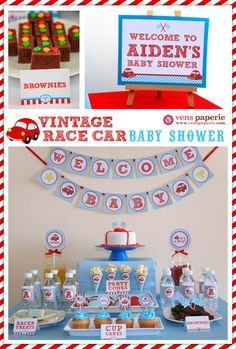 tons of baby shower ideas vintage red racing car baby shower package