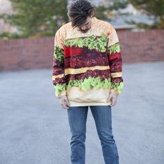 Fastfood hamburger sweater