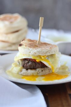 Homemade eggs benedict on top of a ground beef burger? One bite will make you a believer. This recipe from Cooking for Keeps is just begging to be tried between the Nooks & Crannies goodness of a toasted Thomas' English Muffin.