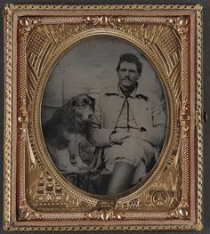 [Unidentified soldier in Union uniform with dog] (LOC) | Flickr - Photo Sharing!