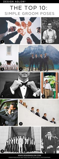 The Top 10: Simple Groom Poses #designaglow