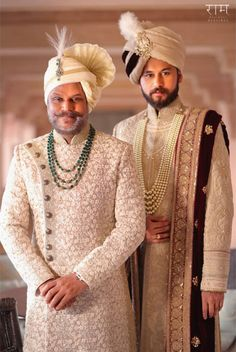 Ideas for Groom Wear, Decide what to wear - Sherwani or Wedding Suit Father Of The Bride Outfit, Wedding Outfits For Groom, Summer Wedding Outfits, Wedding Dress Men, Indian Wedding Outfits, Wedding Men, Indian Weddings, Wedding Ideas, Wedding Vendors