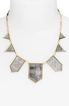 Glam geometric statement necklace!