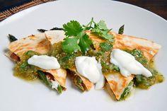 Asparagus & Mushroom quesadilla