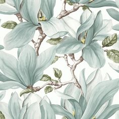 The wallpaper Nature - botanical inspiration - 3521 from Decor Maison is a wallpaper with the dimensions x m. The wallpaper Nature - botanical inspira Art Nouveau Wallpaper, Wallpaper Decor, Home Wallpaper, Fabric Wallpaper, Nature Wallpaper, Motifs Art Nouveau, Art Nouveau Pattern, Magnolia Wallpaper, Botanical Wallpaper