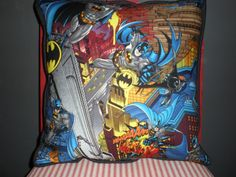 Batman Pillows by GoughGoodies on Etsy