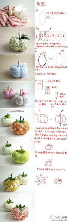 frutas e legumes em tecido