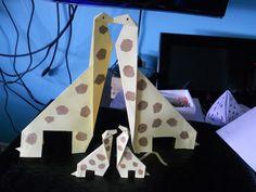 familia de jirafass