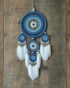 Blue dream catcher - Blue dream catcher The Effective Pictures We Offer You About diy home decor A quality picture can - Grand Dream Catcher, Dream Catcher Decor, Blue Dream Catcher, Beautiful Dream Catchers, Large Dream Catcher, Diy Tumblr, Dreamcatchers, Boho Bedroom Diy, Crochet Dreamcatcher