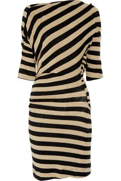 Arianna striped stretch-linen dress by Vivienne Westwood Anglomania