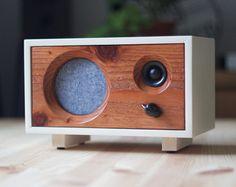 NEW Stereo Walnut Wood Speaker Fawn Speaker by SalvageAudio