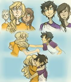 Percy threw his arms around her. They kissed, and for a moment nothing else mattered. Anasteroidcould have hit the planet and wiped out alllife, and Annabeth wouldn't have cared.-The Mark of Athena