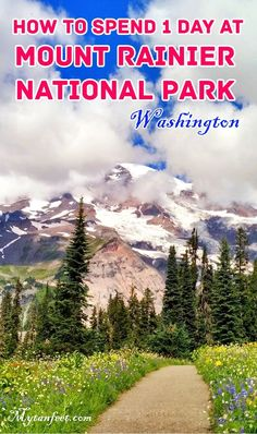 How to spend 1 day at Mount Rainier National Park, Washington state Oregon Travel, Travel Usa, Van Travel, Beach Travel, Washington State, Seattle Washington, Mt Rainier National Park, West Coast Road Trip, Costa Rica Travel