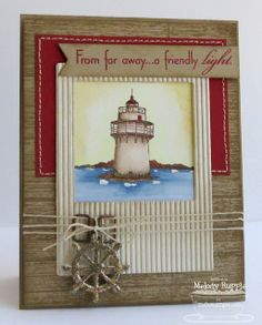Inspired by LIghthouses; Finishing Flourishes; Western Backgrounds; Fishtail Flags STAX Die-namics; Insert It - InstaFrame Die-namics; Sea Charms Die-namics - Melody Rupple