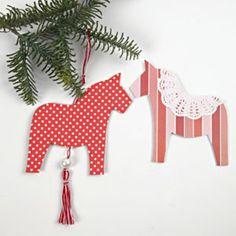 Papieren paard om op te hangen - Inspiration - Creativiteit met papier en karton - Creatieve activiteiten