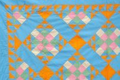 1930s Antique Vintage Patchwork Quilt Top Solid Colors Sawtooth Bordr 92x92 Mint | eBay