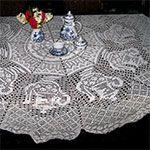Teapot Tablecloth Pattern in Filet Crochet (FT4