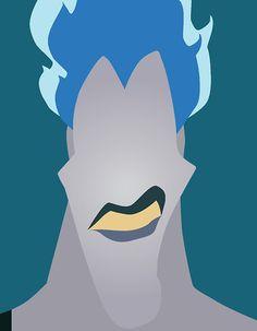 Hades - Minimalist Disney Villian posters by Chelsea Mitchell