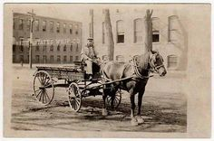 Real Photo Postcard Horse Drawn T.S. Cudworth Express Wagon @ US ... Horse Drawn, Photo Postcards, Delivery, Horses, City, Painting, Animals, Animales, Animaux