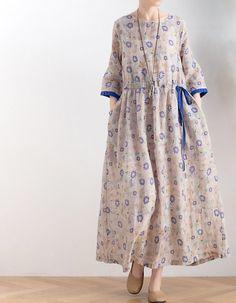 Linen Dresses, Cotton Dresses, Casual Dresses, Fashion Dresses, Summer Dresses, Skirt Fashion, Cotton Long Dress, Smocked Dresses, Wrap Dresses