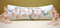 Sweet pillow from vintage linens. Good idea to use my vintage linens.