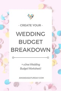 Just engaged? Start here! Setting your budget will outline your entire wedding! Download the FREE Wedding Budget Worksheet to stay on track!