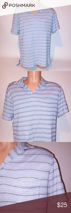 d0f0d82b6f2 POLO Ralph Laurn Mens Polo POLO Ralph Lauren Mens Shirt Short Sleeve Large  Stripe Preowned Item