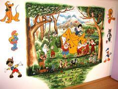 """Padurea Fermecata"" - in lumea povestilor pictate - Coloranda Pinocchio, Mural Art, Art Projects, Disney, Painting, Character, Art Designs, Wall Art, Mural Wall Art"