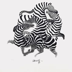 Zebras, by Victor Vasarely, suggestive urban form