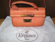 * * * Elégance Tasche orange Schlangenprint * * *   eBay Elegance Paris, Clutch, Orange, Hermes Kelly, Elegant, Bags, Fashion, Hand Bags, Classy