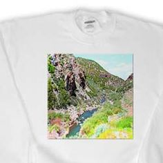 The Stream Coming Off The Enterprise Reservoir In Utah and The Winding Road in Distance Made Tiny Sweatshirt