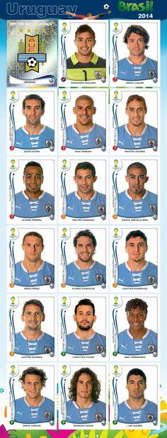 PANINI - Equipo - Uruguay - Mundial Brasil 2014